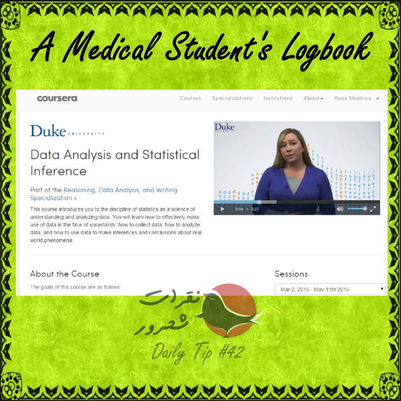 A Medical Student's Logbook ;  Data Analysis and Statistical Inference Course  – Reasoning, Data Analysis, and Writing Specialization on Coursera